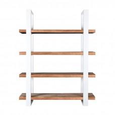 Boekenkast Mango 160 cm met metalen frame - wit 11140