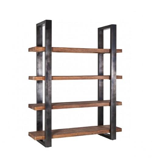Boekenkast Mango 160 cm met metalen frame - zwart 11141
