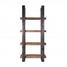 Boekenkast Mango 95 cm met metalen frame - zwart 488555