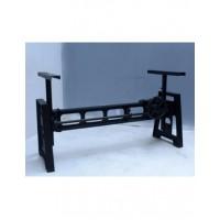 Klassiek tafelpoot staal zwart gecoat