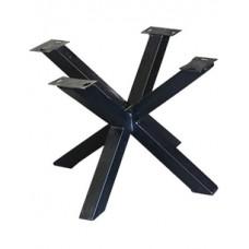 Kruispoot dubbel zwart t.b.v. salontafel hoogte 44 cm