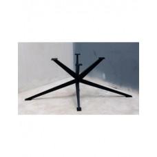 Spinpoot zwart staal H model