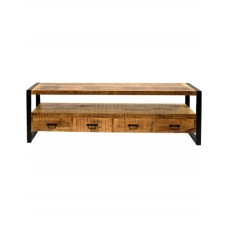 TV kast mango hout met 4 laden