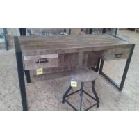 Bureau mango hout met 2 laden