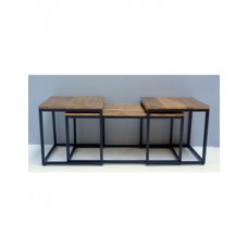 Coffeetable mango hout set van 3