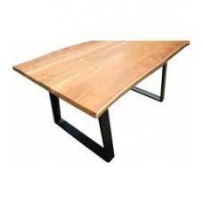 Eettafel acacia hout naturel