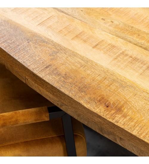 Eettafel mangohout ovaal  240x100 cm