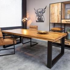 Eettafel mangohout rechthoek  U-poot 160x90 cm
