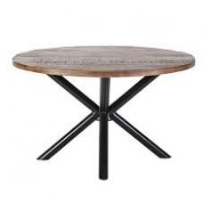 Eettafel rond met kruispoot - 130x130