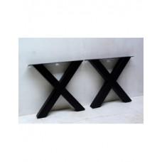 Kruispoot zwart per 2 stuks hoogte 70 cm