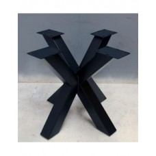 Kruispoot dubbel zwart gecoat