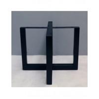 Tafelpoot kruismodel zwart 70 x 90 x 90 cm
