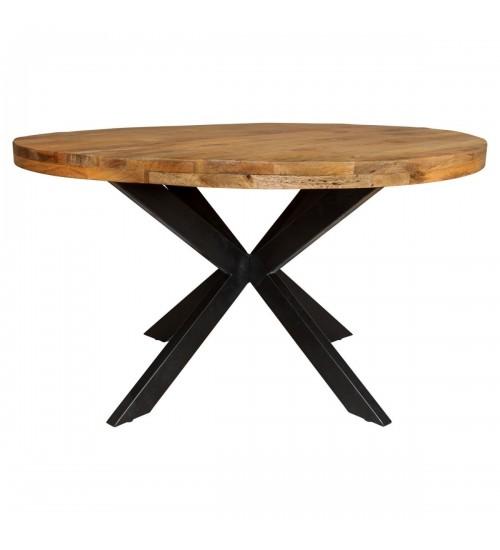 Eettafel mangohout rond Ø120 cm